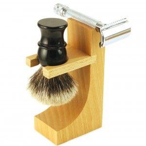 Hardwood Razor and Brush Stand