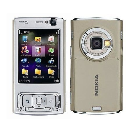 £34.99 - Nokia N95 mobile phone (Unlocked) Sand Symbian slide http://www.ebay.co.uk/itm/Nokia-N95-mobile-phone-Unlocked-Sand-Symbian-slide-/251550307470?pt=UK_Mobile_Phones&hash=item3a9191148e