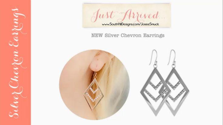 Shd new chevron earring #YourCreativeLocket, #SouthHillDesigns, #valentine