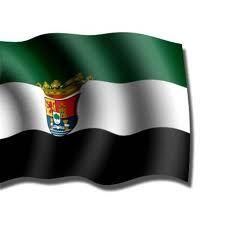 La bandera autonómica de Extremadura aparece por primera vez a mediados de la década de 1970, tras la muerte del general Francisco Franco, en medio de las reivindicaciones autonomistas. Son varias las versiones que aparecen en distintas publicaciones sobre el significado de los colores