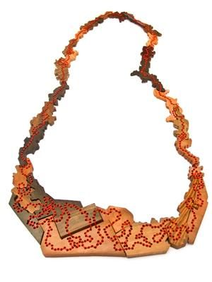 Sachiyo Higaki - necklace (wood, thread) 2010