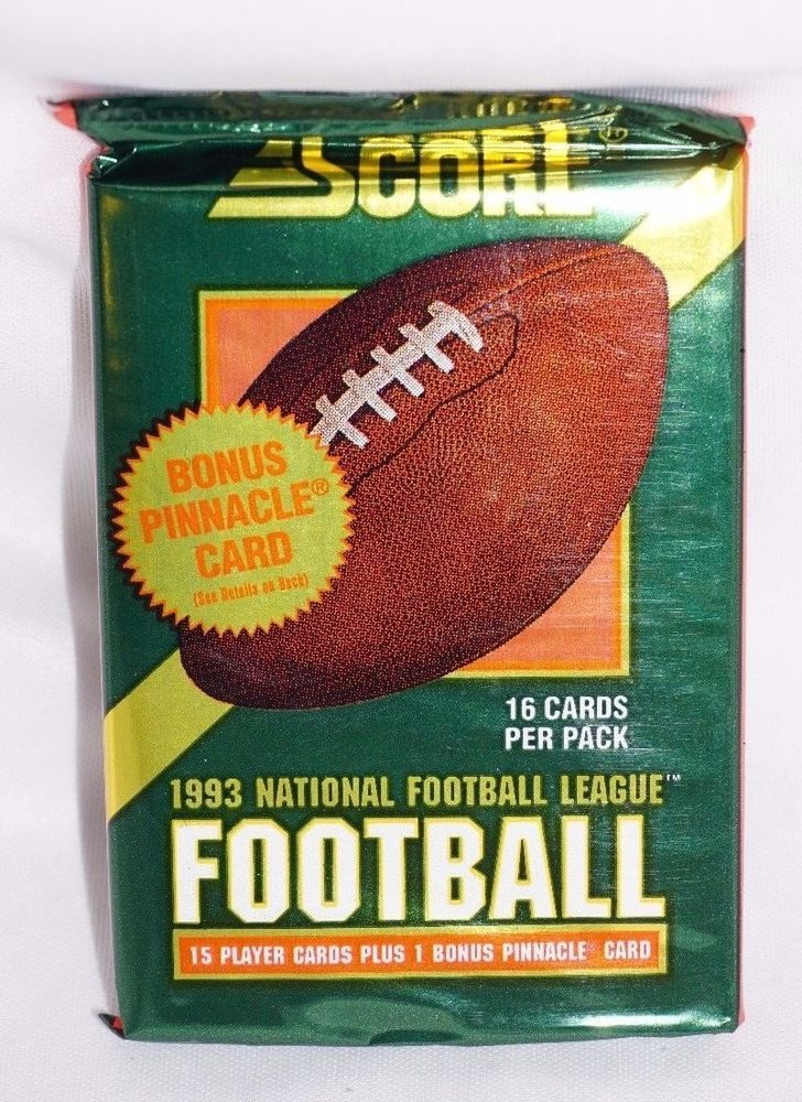 1993, SEALED, Score NFL Cards, 15 + 1 Pinnacle Bonus Card,  NFL Collectible
