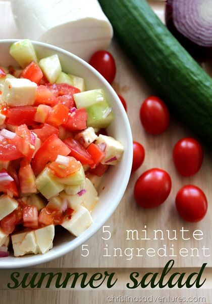 5 minute 5 ingredient summer salad