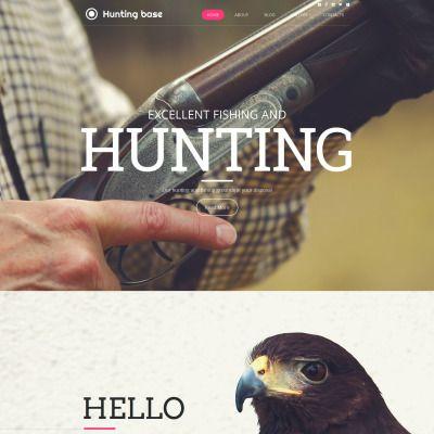 Hunting Premium Moto CMS HTML Theme