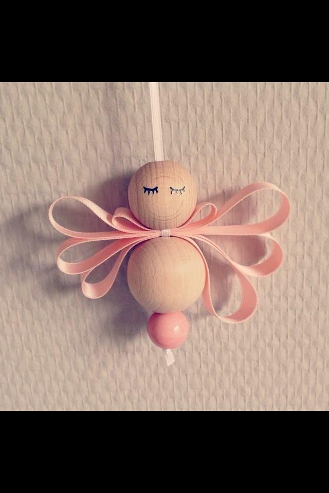 ange perle + ruban