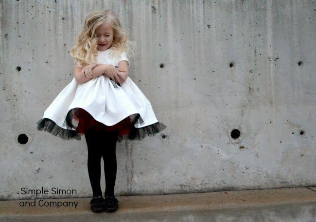 Tutorial voor tule rand, super leuk jurkje Simple Simon