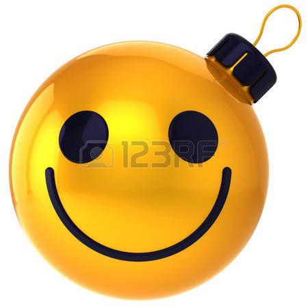 Kerst bal smiley gezicht goud Gelukkig Nieuwjaar kerstbal glimlach gezicht avatar decoratie geluk grappig vriendelijke pictogram Merry Xmas positieve vakantie-symbool photo