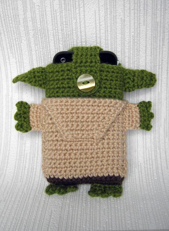 (4) имя: 'вязание крючком : Звездные войны - йода - iPhone 5 и 4 уютная