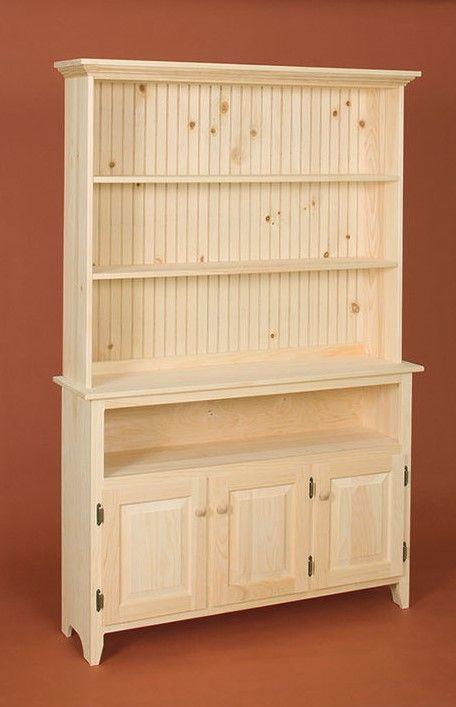 Three Door Bookcase · Unfinished Pine FurnitureWood ...