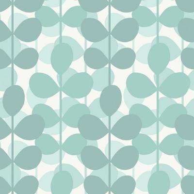 The Wallpaper Company 56 sq. ft. Aqua Leaf Wallpaper - WC1282610 at The Home Depot