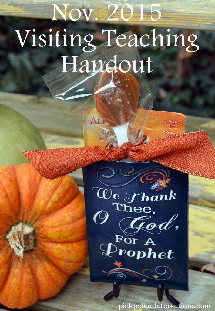 Nov. 2015 Visiting Teaching Handout