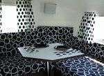1963 Airstream Bambi - Black & White Dots! Corner Table..