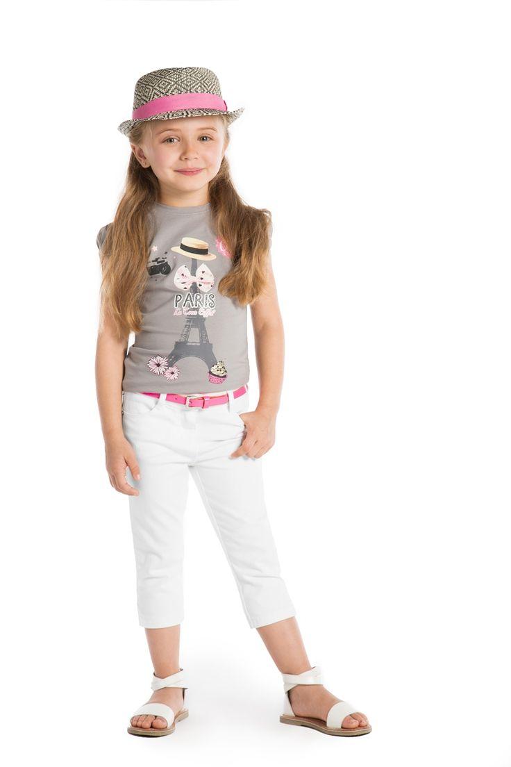 #T-shirt basic #Orchestra print fantaisie #modefille 2-10 ans - www.shop-orchestra.com