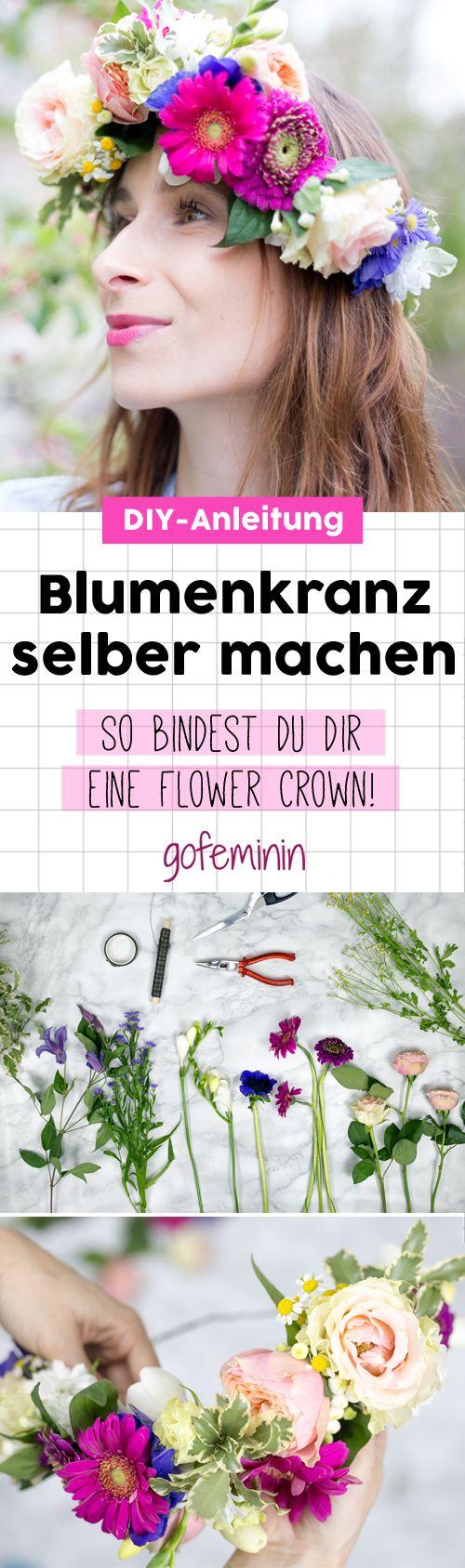 Blumenkranz selber machen: DIESE Anleitung ist super einfach!