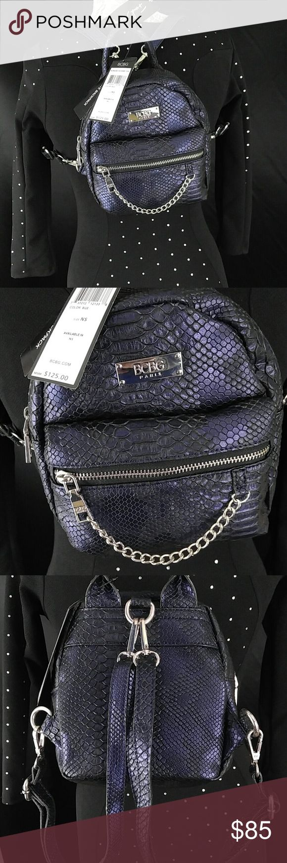 NWT BCBG petite backpack blue NWT BCBG petite backpack blue BCBG Bags Backpacks