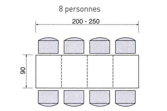 dimensions d 39 une table pour 2 4 6 ou de personnes. Black Bedroom Furniture Sets. Home Design Ideas
