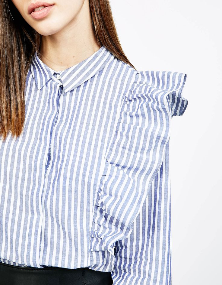 Camisa a rayas con lazo a rayas