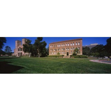Lawn in front of a Royce Hall and Haines Hall University of California City of Los Angeles California USA Canvas Art - Panoramic Images (36 x 12)