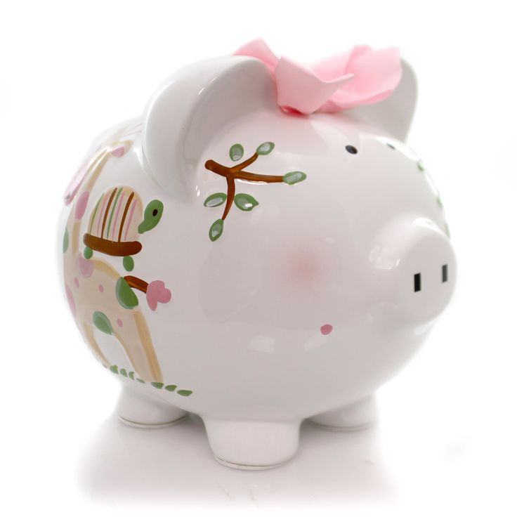 Bank Pink Tropical Punch Piggy Bank