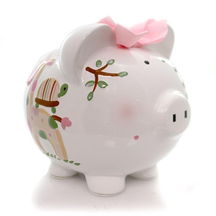 Bank Pink Tropical Punch Piggy Bank
