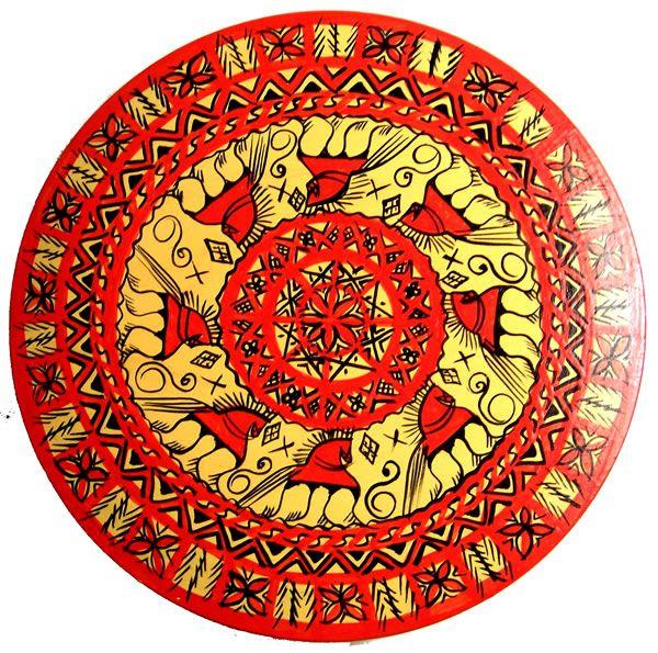 Mezen painting style, Pagan Ornamental Wooden Boxes