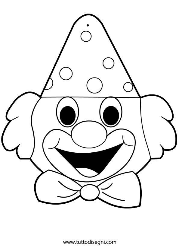 Disegni di Carnevale da colorare - Pagliaccio - TuttoDisegni.com