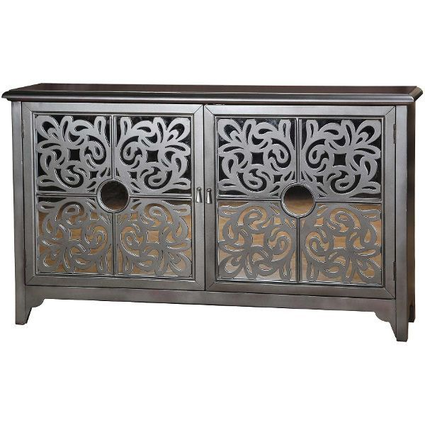 accents mirrored credenza in sterling dining room table sets bedroom furniture curio cabinets and solid wood furniture model home gallery