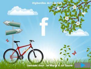 De f van fiets digibordklankles