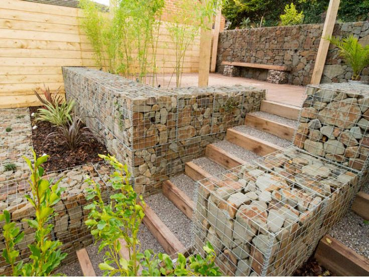 127 best Gabions images on Pinterest Gabion wall Gabion fence