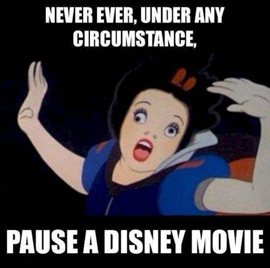 Hilarious Reasons Why Disney Movies Should Never Be Paused