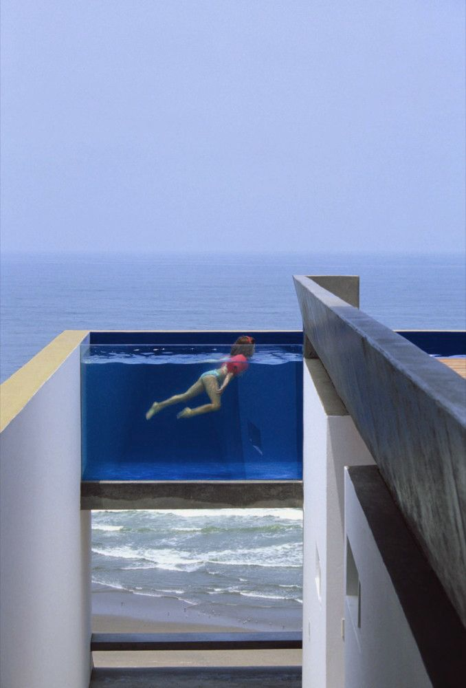 piscinaCasa Equis, Swimming Pools, Dreams Home, Beach House, Rooftops Pools, Peru, The Ocean, Modern Architecture House, Ocean View