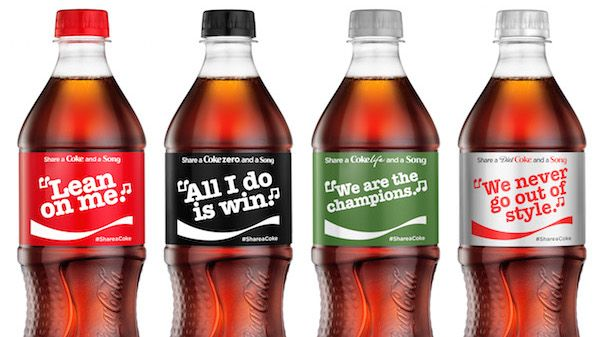 The hit campaign will sing a different tune this summer when it swaps out first names for song lyrics on packs of Coca-Cola, Diet Coke, Coke Zero and Coca-Cola Life.