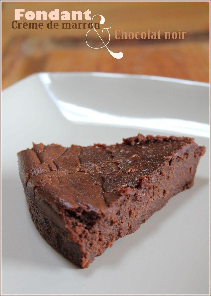 fondant créme de marron & chocolat, parfait pour noel !