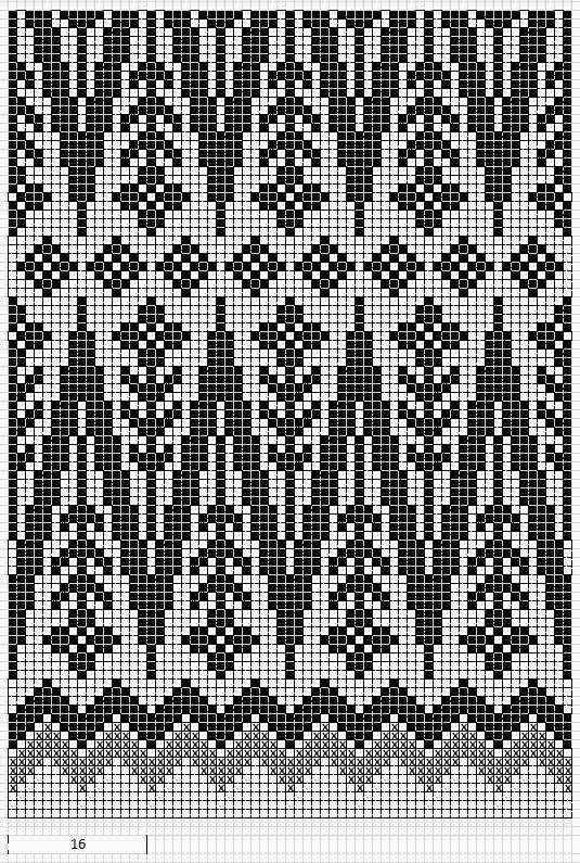 Mustrilaegas: AA Kirjatud kudumid / Patterned knits  blommor färgstickning mönsterstickning