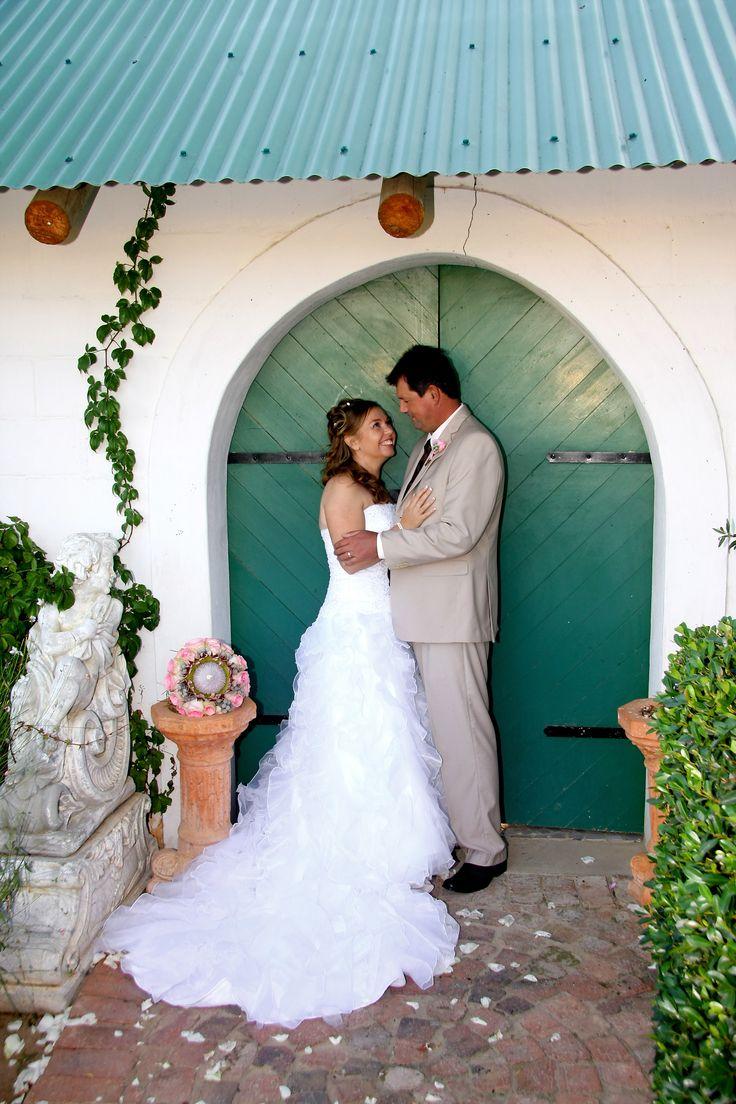 in front of the chapel door