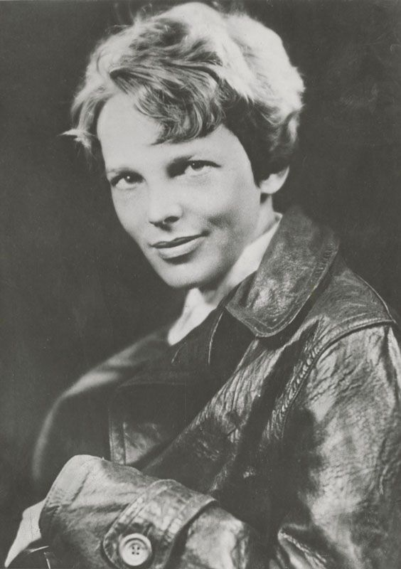 Amelia Earhart. I am doing a report on her in my history class and she is slowly becoming one of my favorite people of all time:)