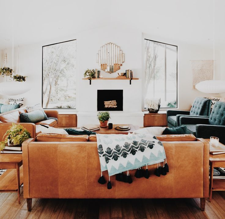 I Like The Colors With The Tobacco Couch Interiors