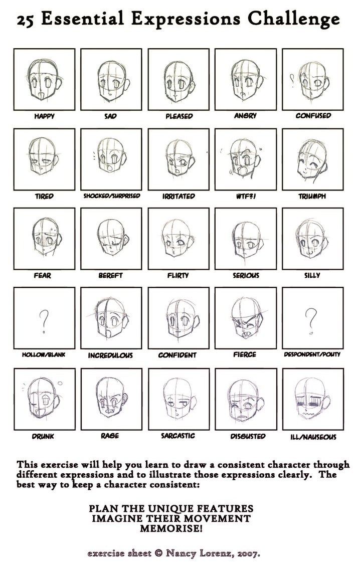 Character Design Essentials : Best expressions images on pinterest drawing ideas