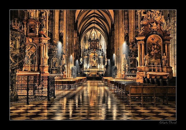 St Stephen's cathedral, Vienna. The catacombs beneath it are a true eye-opener.