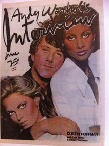 Beverly Johnson, Dustin Hoffman, Lisa Taylor - Interview Magazine Cover [United States] (June 1976)