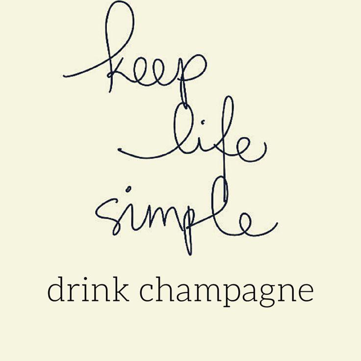 Keep it simple! Champagne! Voor de lekkerste champagnes kijk je op www.brouzje.nl
