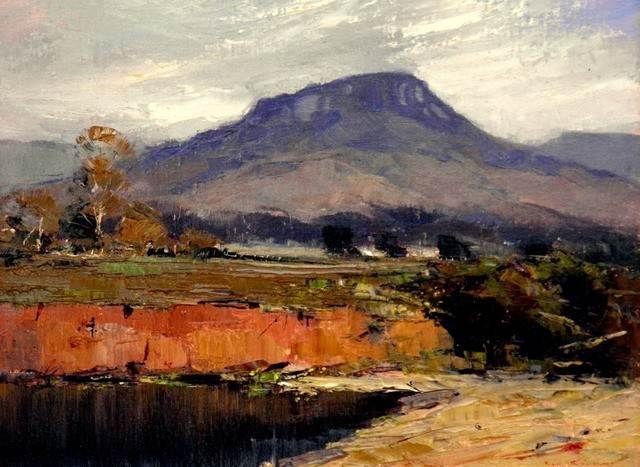 KEN KNIGHT (Australia) is a plein air artist producing landscape paintings outside in oil in an impressionist manner.