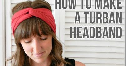 Click Here  to see the tutorial on how to make this turban headband.