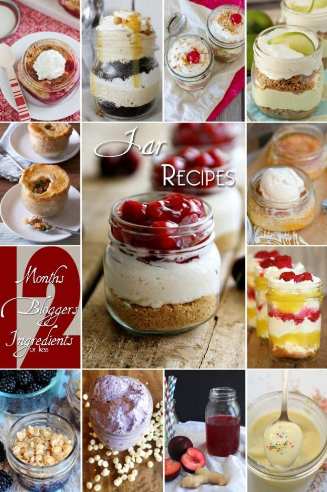 What a great list of jar recipes! Including Peach Cobbler using a master mix/Bisquick.  Yum!