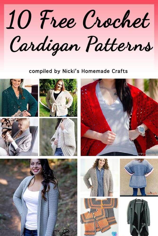 10 Free Crochet Cardigan Patterns Elk Studio Crochet Finds