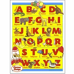 An ABC Wall Art Is A Perfect Accessory To A Curious George Bedroom.