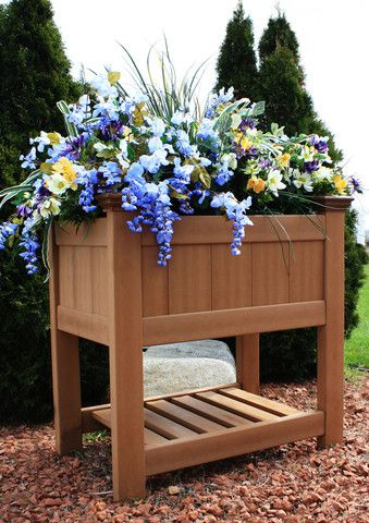 visit the home depot to buy new england arbors bloomsbury raised garden planter