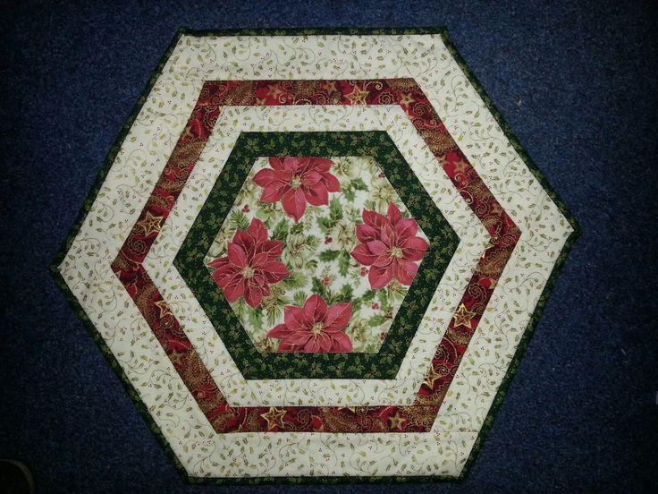 Hexagon Weihnachtsdecke