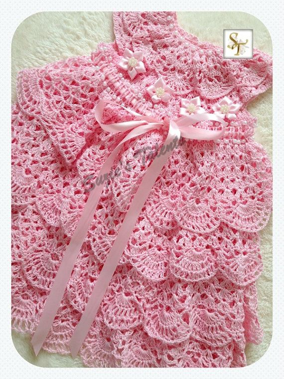 Special Occasion Baby Dress Crochet Baby by SuziesTalents on Etsy