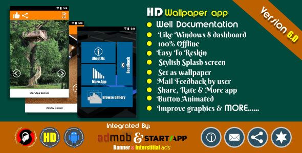 HD wallpaper app with Admob and Startapp . Test our updated APK before